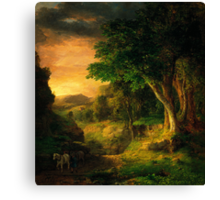 George Inness In the Berkshires Canvas Print