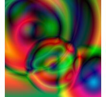 Multi-coloured abstract circles Photographic Print