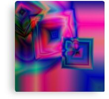 Multi-coloured abstract squares Canvas Print