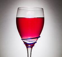 Full Wine Glass - Grey by broomhillphoto