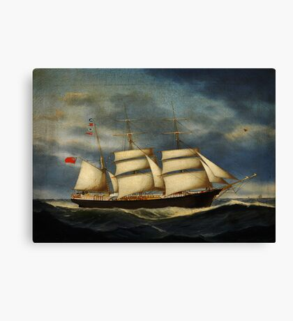 Heinrich Andreas Sophus Petersen The barque Annie Burrill Canvas Print