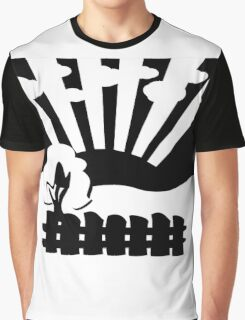 black and white landscape Graphic T-Shirt