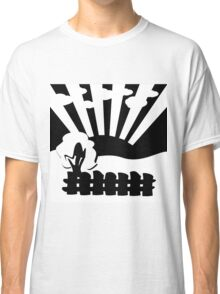 black and white landscape Classic T-Shirt