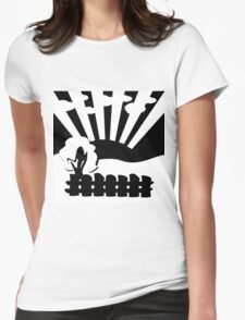 black and white landscape Womens Fitted T-Shirt