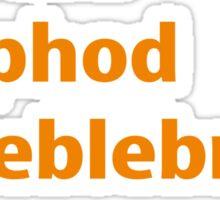 what would Zaphod Beeblebrox do? Sticker
