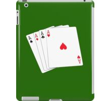 ACE, Aces High, Gamble, Four Aces, Poker, Playing Cards, Winning Hand, on green iPad Case/Skin