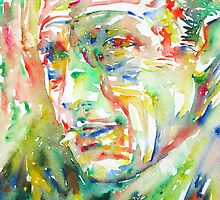 CAMUS ALBERT watercolor portrait by lautir