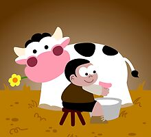 Pasiegos Milking Boy by Sonia Pascual