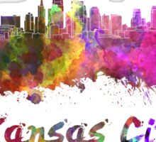 Kansas City skyline in watercolor Sticker