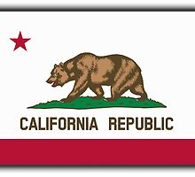 Californian Flag, Flag of California, California Republic, America, The Bear Flag, State flags of America, American, USA by TOM HILL - Designer