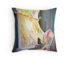 Wind from the City Throw Pillow