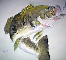 LargeMouth Bass by Anne Guimond