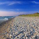 Polished White Stones on the Shore by DArthurBrown