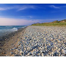 Polished White Stones on the Shore Photographic Print