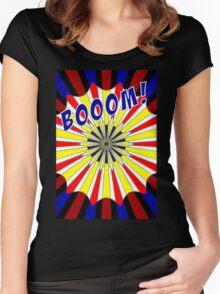 Pop art meets Mondrian explosion Women's Fitted Scoop T-Shirt
