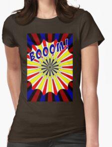 Pop art meets Mondrian explosion Womens Fitted T-Shirt