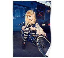 Chelsea Deville on the Bike Poster