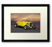 1932 Yellow Roadster Framed Print