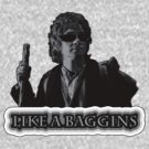 Like A Baggins [ Black and White + Sunglasses ] by picky62version2