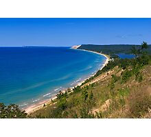 Sleeping Bear Dunes from Empire Bluff Photographic Print