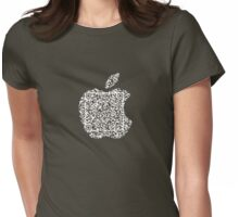 QR Apple (small) Womens Fitted T-Shirt
