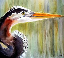 Great Blue Heron by Anne Guimond