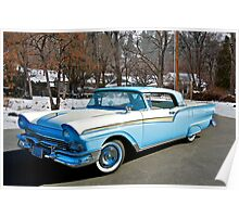 1957 Ford Fairlane Skyliner Poster