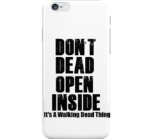 TWD thing  iPhone Case/Skin