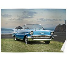 1957 Chevrolet Bel Air Convertible Poster