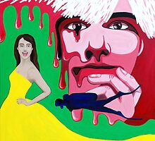 The Melting Head of Andy Warhol Contemplating the Long Term Effects of Scuba Diving on Prom Fashion by Myles Williams