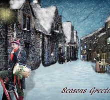 Christmas Past (greeting card with writing) by Lissywitch