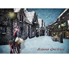 Christmas Past (greeting card with writing) Photographic Print