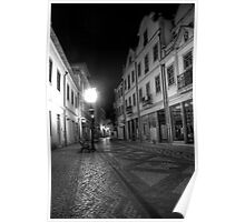 Aveiro by night in B&W (HDR) Poster