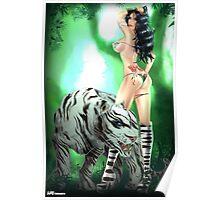 Dora Miller White Tiger Fantasy Poster