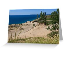 Sleeping Bear Dunes and South Manitou Island Greeting Card