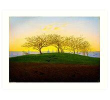 Hill and Ploughed Field near Dresden by Caspar David Friedrich Art Print