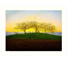 Hill and Ploughed Field near Dresden by Caspar David Friedrich Art Print