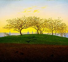 Hill and Ploughed Field near Dresden by Caspar David Friedrich by Adam Asar