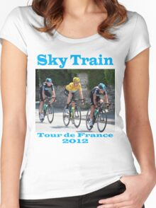 Wiggins Sky Train - Tour de France 2012 Women's Fitted Scoop T-Shirt