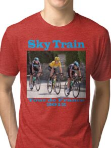 Wiggins Sky Train - Tour de France 2012 Tri-blend T-Shirt