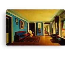 interiors reception room with columns on the mezzanine Canvas Print