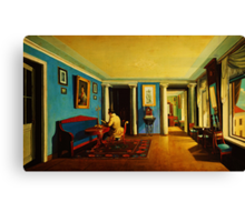 interiors reception room with columns on the mezzanine Canvas Print