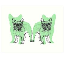 Theo the Frenchie Art Print