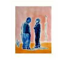 Men in Conversation 2 Art Print