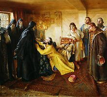 ivan the terrible begs to become a monk by Adam Asar