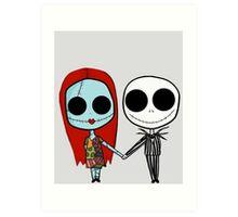 Jack and Sandy - The Nightmare Before Christmas Art Print