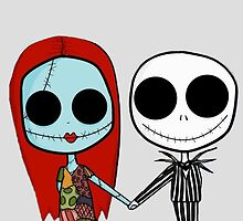 Jack and Sandy - The Nightmare Before Christmas by tomohawk64
