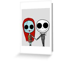 Jack and Sandy - The Nightmare Before Christmas Greeting Card