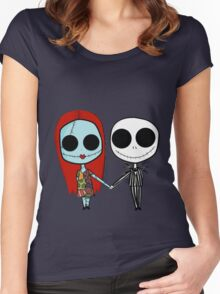 Jack and Sandy - The Nightmare Before Christmas Women's Fitted Scoop T-Shirt
