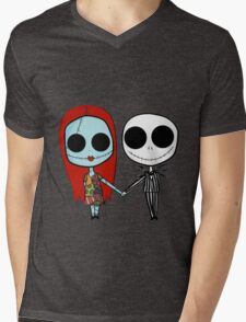 Jack and Sandy - The Nightmare Before Christmas Mens V-Neck T-Shirt